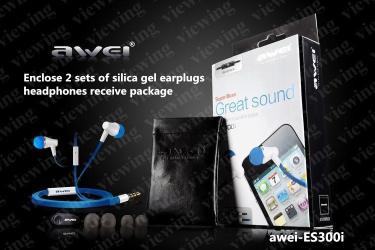 Awei - ES300i general type 3.5 mm headset support apple mobile phone Samsung HTC, H uawei all kinds of mobile phones(China (Mainland))