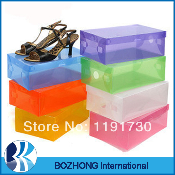 Transparent Shoe Boxes Clear Plastic PP Storage Box Packaging Box 2 Sizes 28*18cm(China (Mainland))