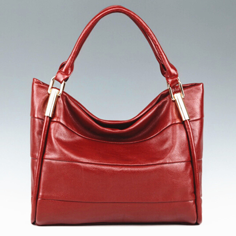 2015 New Women Leather Handbag Fashion Vintage Female Shoulder Bag Hot Lady PU Leather Bag Cattle Split Leather Tote Big Bolsas(China (Mainland))