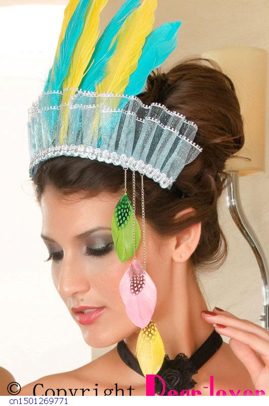 2015 Time-limited New Arrival Solid Adult Fashion Kid Hair Accessories Color Feather Hair Hoop Lc73012 Cheap Price Free Shipping(China (Mainland))