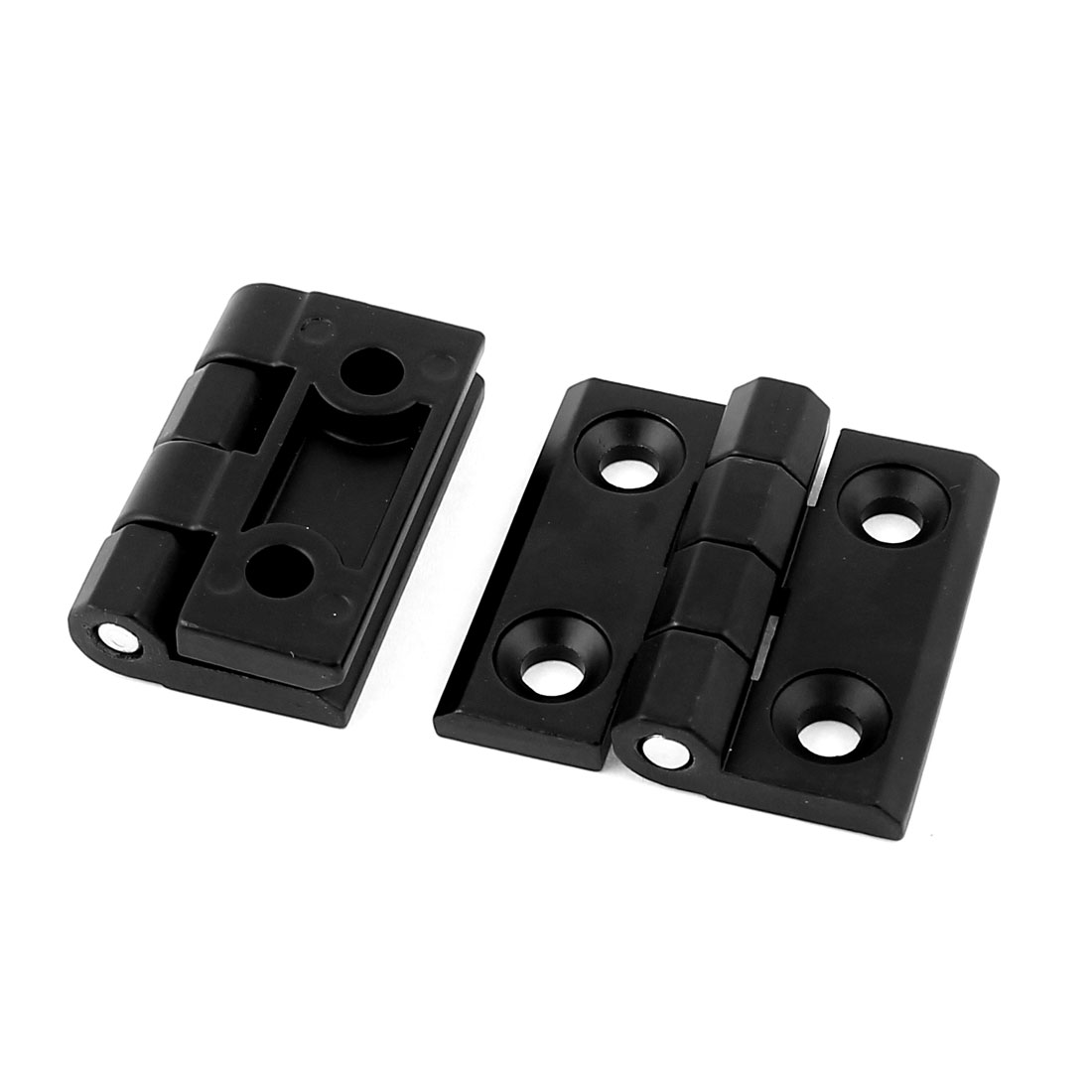 UXCELL 50Mm X 50Mm Zinc Alloy Closet Cupboard Cabinet Door Butt Hinge Black 2Pcs(China (Mainland))