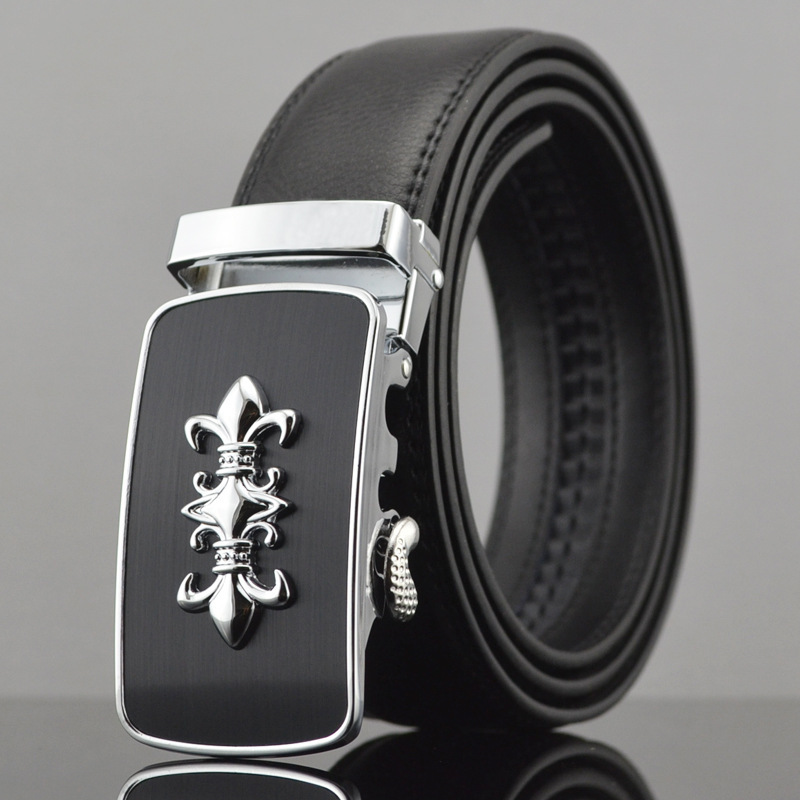 2016 new bentley logo automatic buckle belts sports car men belt leather strap for male(China (Mainland))