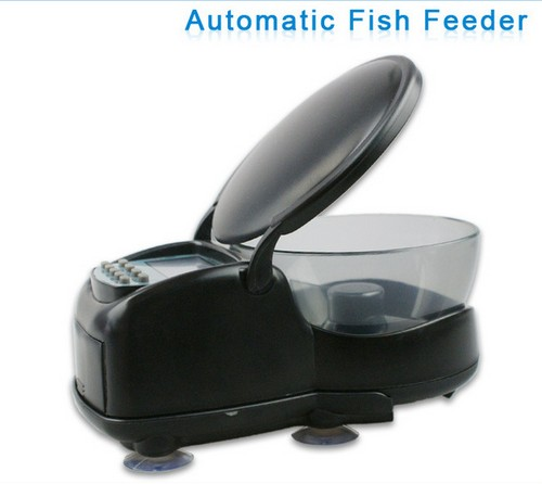 Professional Automatic Pet Fish Food Supplies 4-Meal Feeding Bowl Feeder Easy To Take Apart and Clean Design with LCD Display(China (Mainland))