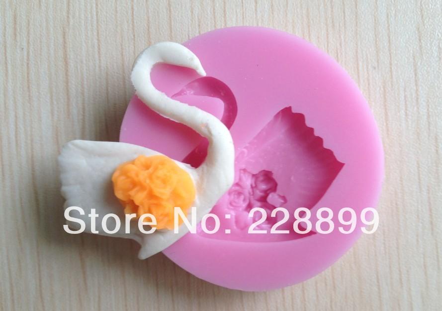 Fondant Cake Silicone Molds : Free shipping 1PCS swan fondant molds, Soap silicone ...