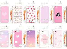Mobile Phone Case For iphone 6 6s Wholesale 10pcs/lot pink Design White Hard Back Case Free Shipping