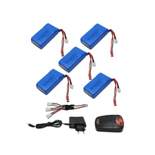 Buy 5pcs lipo battery 2s 7.4V 1500mah 30C+EU charger Quadcopters Helicopters RC Cars Boats High Rate batteria lipo car parts for $54.92 in AliExpress store