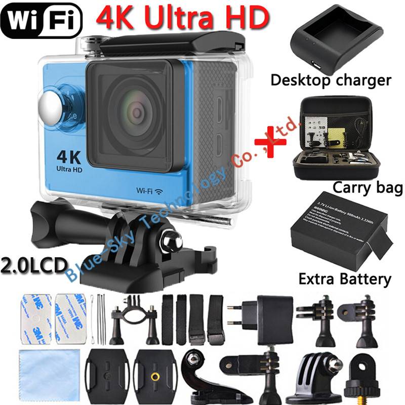 [Charger+Bag+Extra Battery] Original H9 Ultra HD 4K WIFI Action Camera Waterproof 1080P/60fps 2.0 LCD Extreme Helmet Sport DV<br><br>Aliexpress
