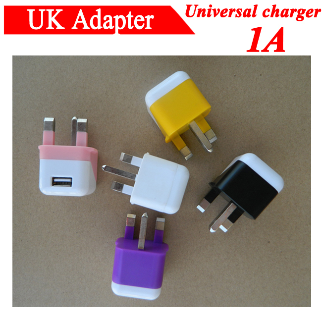 200 pcs 1A UK USB Wall Power Adapter charger fr Samsung Galaxy S5 S4 S3 for iphone fr Huawei for Sony for HTC Cargador Free DHL(China (Mainland))