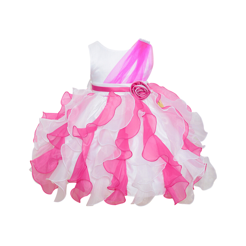 Pretty Girls Clothes Petal Baby Easter Dress Bow Sash Little Kids Baby Wedding Dresses Child Brand Formal Princess Suits Clothes(China (Mainland))