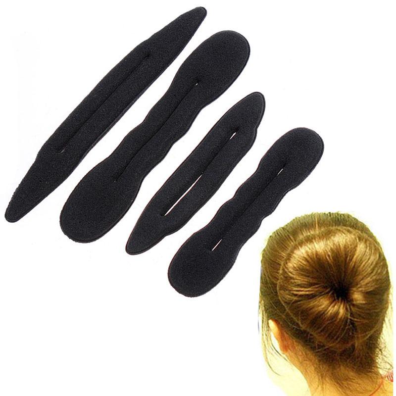 4Pcs Hair Accessories DIY Magic Sponge Hair Band Elastic Hair Styling Bun Maker Twist Curler Tool Hair Styling Tools(China (Mainland))