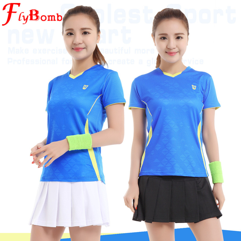 Flybom Women Shirt NEW Badminton Sports Cloth Breathable Quick Dry Wicking Shirts Clothing Table Tennis Clothes with Skirt L473(China (Mainland))