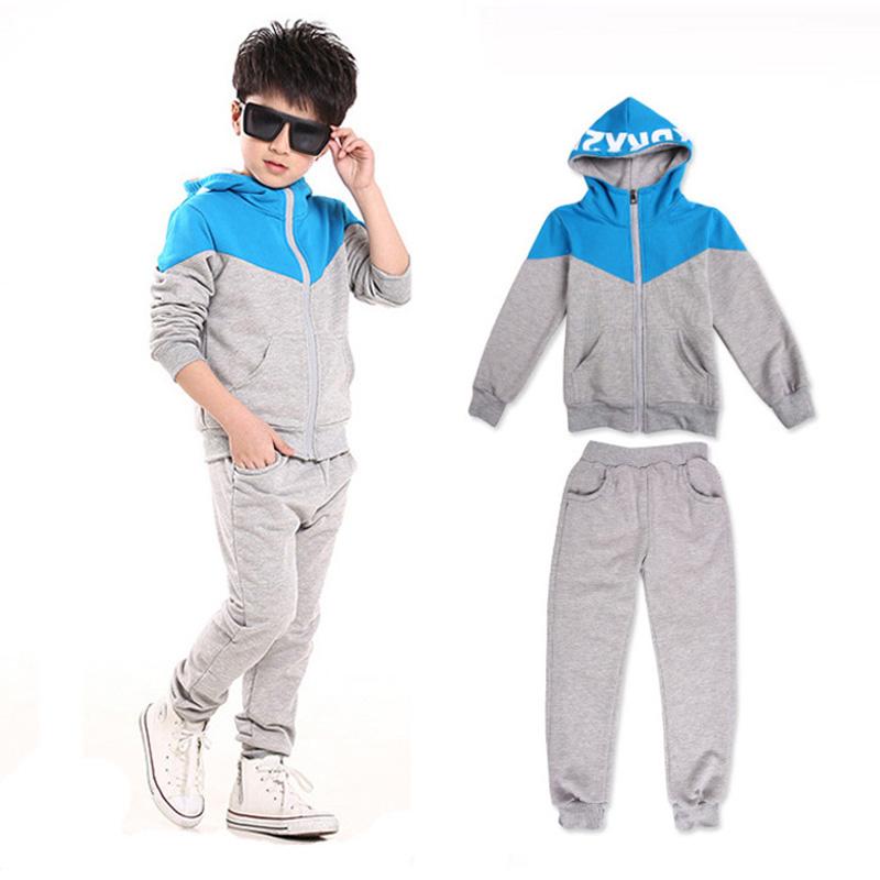 NEW Spring Autumn kids clothes sets cotton boys Sport clothing suit set long sleeve sets children hoodies jacket+pants(China (Mainland))
