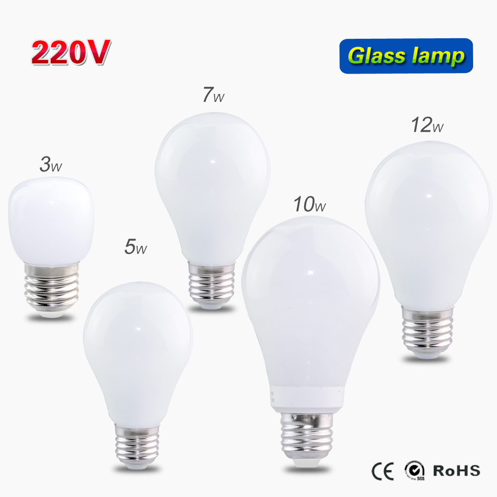 1pc Glass Cover LED lamp E27 3W 5W 7W 10W 12W AC 220V/240V Bubble Ball LED Bulb SMD 2835 Pendant lights Chandeliers(China (Mainland))