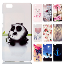 3D Emboss Back Cover Huawei P8 Lite Case Panda/DreamCatcher Rubberized Relief Housing Phone Cases P9 - REDSTORE INT'L TRADING CO LTD store