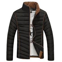 2015 new winter warm men's cotton-padded clothes slim solid color men padded coat male casual Korean version cotton jackets