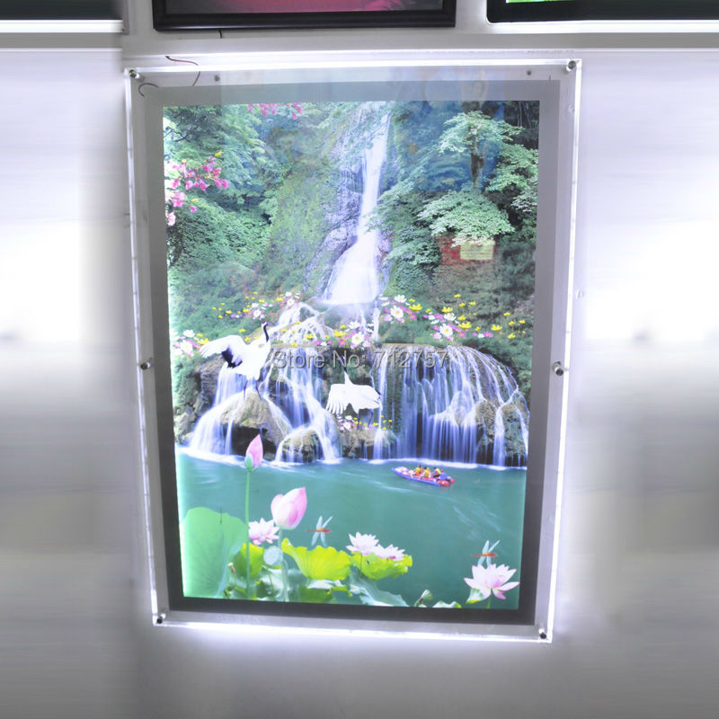 Aliexpress.com : Buy Led Backlit Picture Light Box A1 Size,Wall mounted Acrylic Led Photo Frames ...