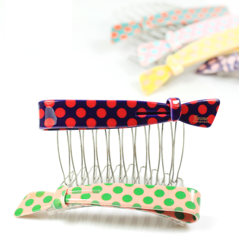 Woman acrylic jewelry wholesale lovely sweet acrylic comb Goody Hair Combs inserted comb 10 pcs/lot(China (Mainland))