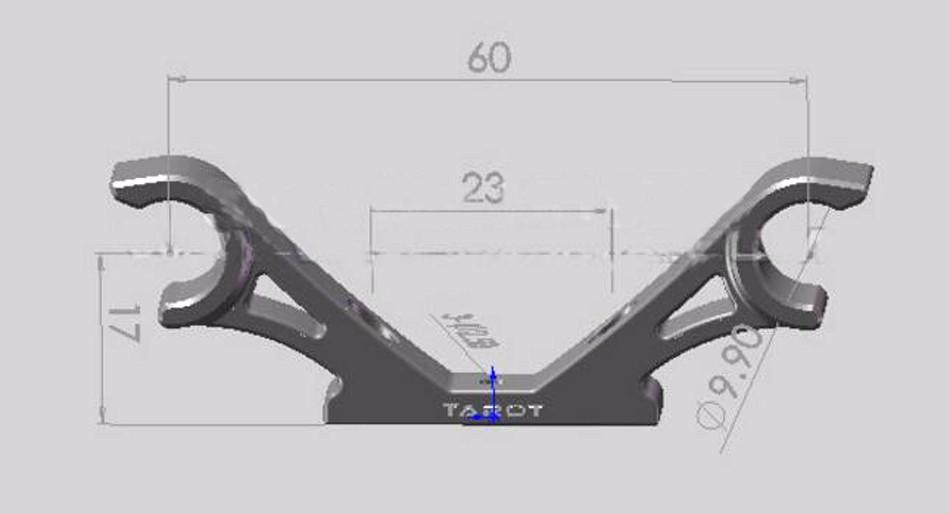 CFQ Tarot diy Gimbal Hanging Hook for tarot 650 680 Diy FPV Kit Quadcopter frame RC drone gimbal mount 10MM 3 Axis 2