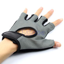 F85 Free Shipping Training Body Building Exercise Gym Weight Lifting Sport Mesh Half Finger Gloves