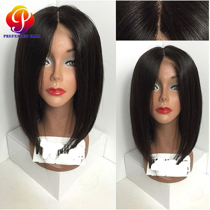 Short Bob Straight Wig Brazilian Virgin Hair Full Lace Human Hair Wigs With Baby Hair Lace Front Human Hair Wigs For Black Women<br><br>Aliexpress