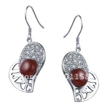 2014 fashion jewellery female models earrings natural agate earring CYE0018R
