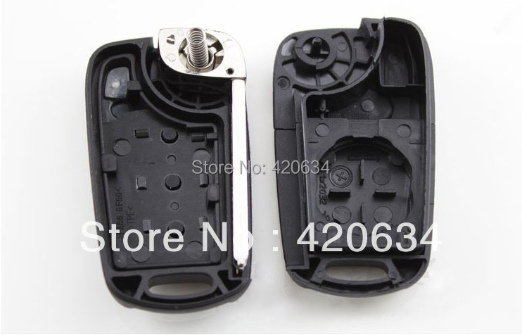 5pcs lot 3 Buttons Car Flip Folding Remote Key Shell Blank Case Cover for Hyundai I30