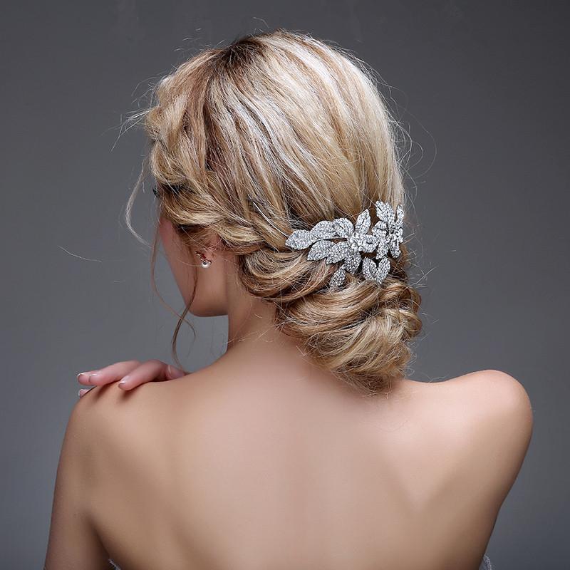 Crystal Flower Wedding Headband Headpiece Head Jewelry Rhinestone Bridal Hair Accessories Head Chain Hair Jewelry WIGO0394<br><br>Aliexpress