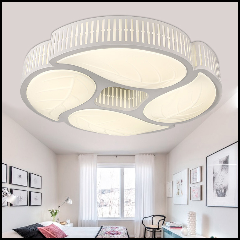 Fashion leaf shape ceiling Light 630mm 28W Led ceiling lamp lampshade living dining room bedroom(China (Mainland))