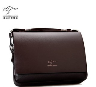 Fashion Kangaroo Mens Leather Crossbody Shoulder Messenger Bag Briefcase 50