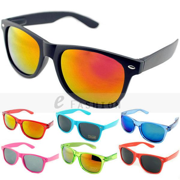 Hot Sale! 2015 Fashion New Goggles Unisex Wayfarer New 80s Style Joint Multi-coloured Summer Shade UV400 Sunglasses 120-0001(China (Mainland))