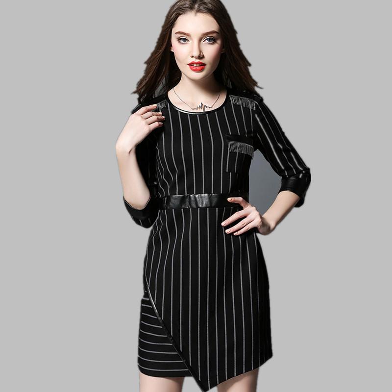 Women Dress Femininos Vestido De Festa spring autumn new clothing striped dresses large size sexy dress club wear office JS718(China (Mainland))