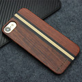 YFWOOD Natural Wood Cover for iPhone 7 Case luxury brand Unique Wooden Stripe Phone Cases