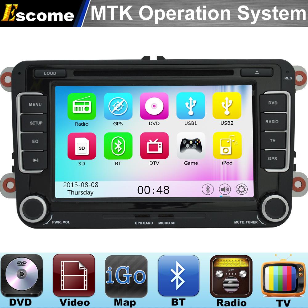 MTK3360 Car DVD Player For VW PASSAT CC 2008 - 2013 VW PASSAT 2005 - 2013 VW Golf with 800MHz CPU Bluetooth Radio GPS Navigation(China (Mainland))