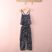 Girl Romper 2016 Summer Kids Baby Girls Clothes Sleeveless Dress Jumpsuit Trousers Outfits(China (Mainland))