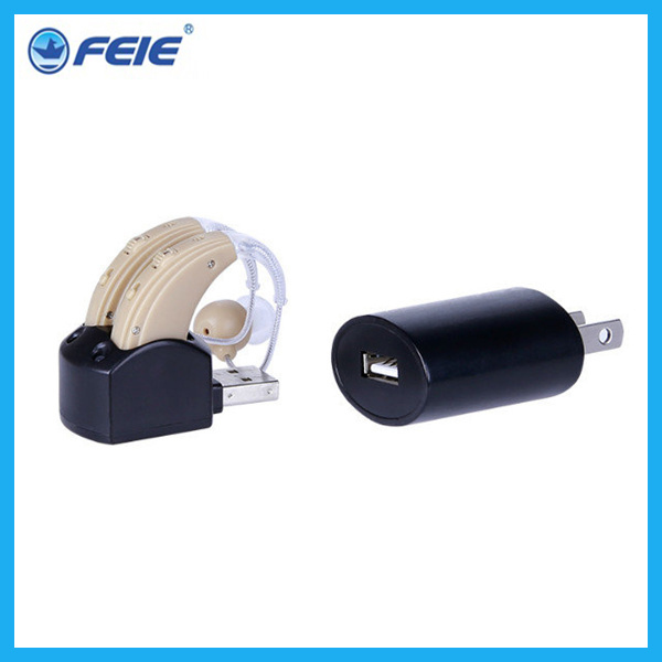 free shipping 2015 Newest mini hearing aid , hearing aid behind the ear, BTE rechargeable hearing aid S-109S