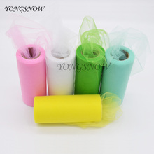 Buy 22m/roll 15cm Width Tulle Roll Fabric Spool Crafts Decorative Party Gift Wrap Wedding Birthday Decoration Tutu Skirt Supplies 8Z for $2.02 in AliExpress store