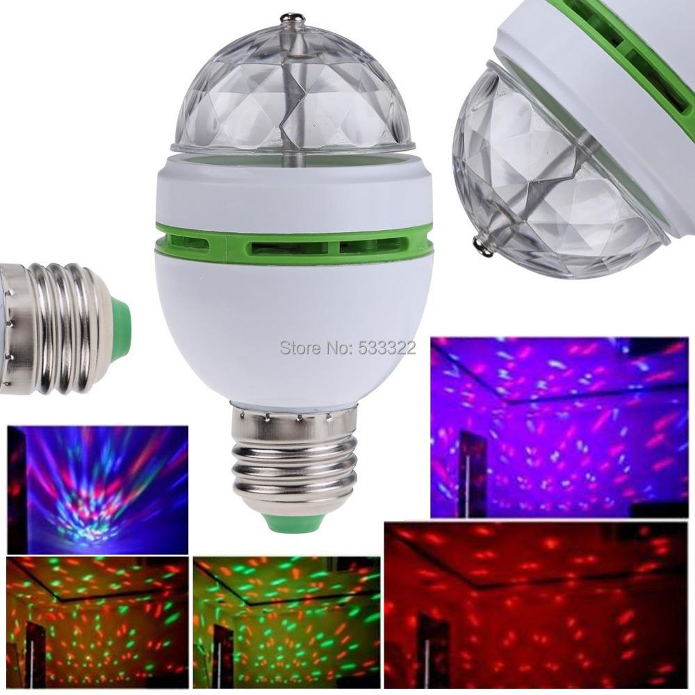 E27 E26 3W Multi Color Rotating RGB LED Energy Saving Bulb Stage fairy Light Party Lamps Disco DJ 85V-265V - FBT View Technology Co., Ltd store