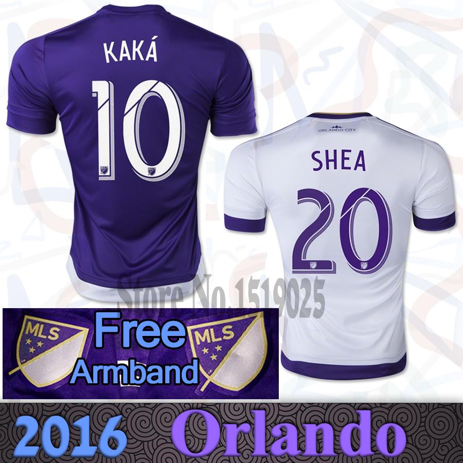 2015 2016 Orlando City football jersey Major League KAKA SHEA soccer shirt sweatshirt home purple away white football shirt(China (Mainland))
