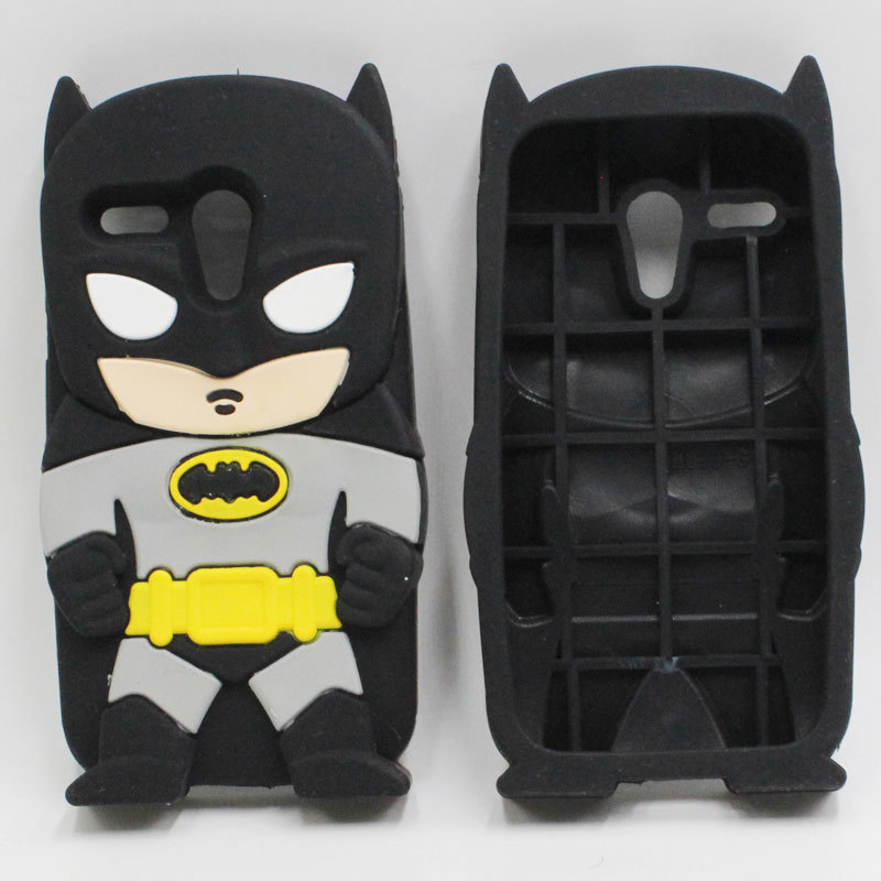 For Moto G G 1 G1 Case 3D Cartoon Cool Hero Silicone Black Batman Cover Cell Phone Cases For Motorola Moto G XT1032 XT1033(China (Mainland))