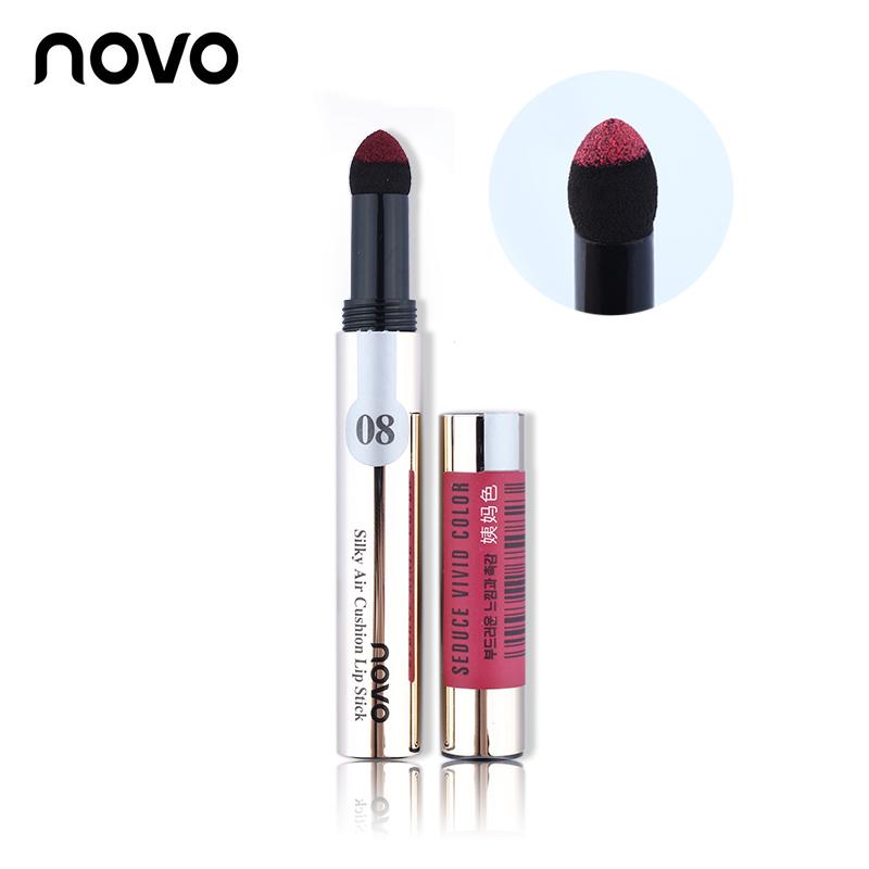 ColorStay Silky Air Cushion Powder Lipstick Long-lasting Waterproof Lip Gloss Smooth Elastic Lips Makeup Cosmetic NOVO Lip Stick(China (Mainland))