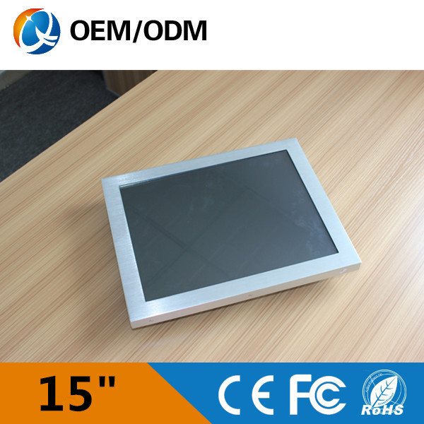 """free shipping 15"""" fanless industrial all in one computer 15 inch AIO PC Intel D525 1.8GHz (QY-15C-DCAA)(China (Mainland))"""