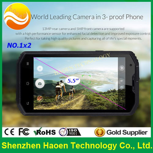 Factory Low Price Rugged Verizon 4G LTE Android Phone IP68 Waterproof Sunlight Visible Outdoor Phone With 1 + 8GB/5 + 13MP GPS(China (Mainland))