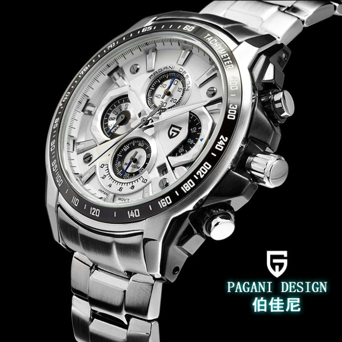Pagani design brand male men's sports casual quartz wrist watch wristwatches man stainless full steel waterproof 30M CX-0005 - Cool Market store
