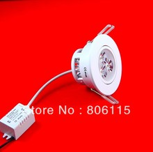 20X Dimmable 3x3W 9W led downlight LED Down light led ceiling lamp warm/pure/cold white AC110V/220V(China (Mainland))