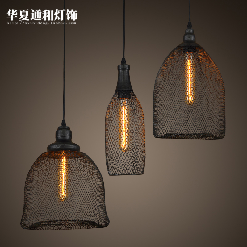 American creative personality retro loft lamps and lanterns Iron Art Cafe clothing store restaurant lamp<br><br>Aliexpress