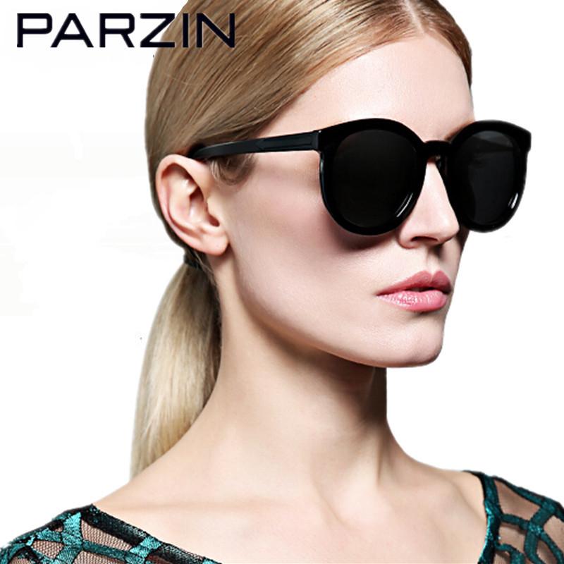 Фотография Parzin  Polarized sunglasses Women Black Vintage Lovers Design Sun Glasses Driver Glasses Sunglases With Case  9287