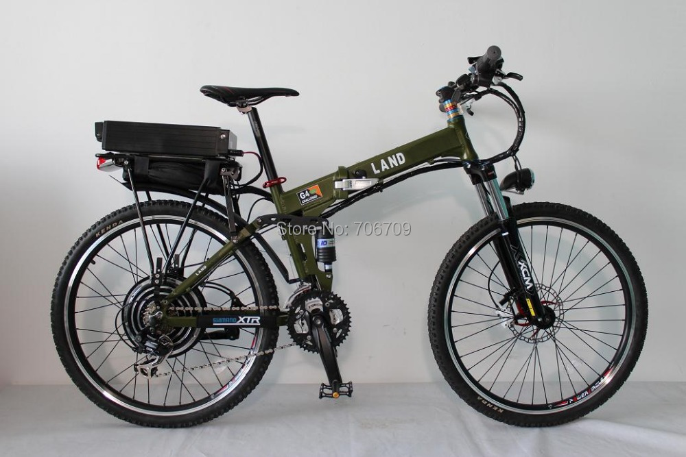 48V 1000W Electric Bike Foldable Electric Bicycle Foldable Frame Ebike + 48V 20Ah Li-ion Battery Full Suspension(China (Mainland))
