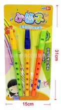 4pcs--musical toy  Plastic six holes clarinet The little flute early  education toys (China (Mainland))