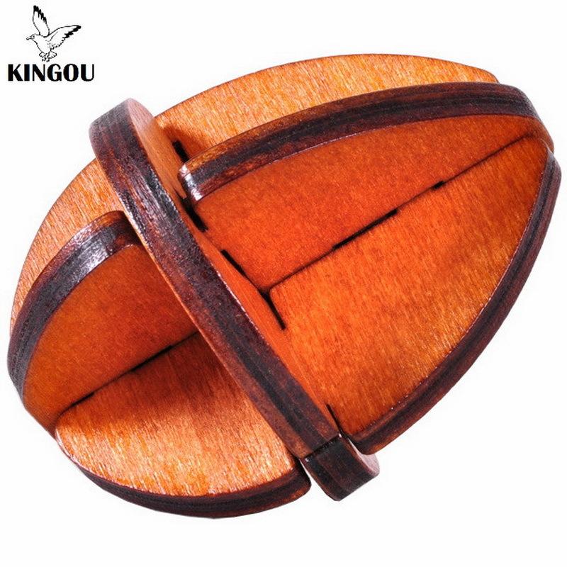 KINGOU Wooden Reincarnation Eggs Lock Logic Puzzle Burr Puzzles Brain Teaser Intellectual Removing Assembling Toy(China (Mainland))