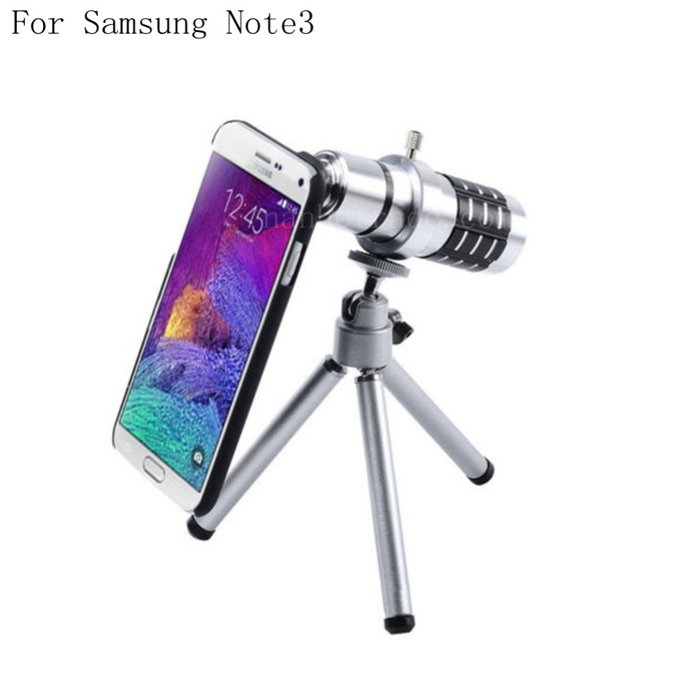 For Samsung Galaxy Note3 N9000 12X Optical Zoom Telescope Camera Lens+Tripod +Back Case Cover Phone 12X Zoom Lens(China (Mainland))